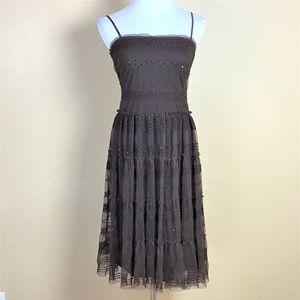 Max Studio Dress Size Small Brown Lace